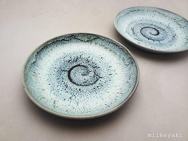 三池焼白釉6皿