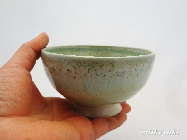 緑釉ご飯茶碗