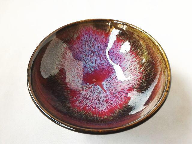 三池焼辰砂天目ご飯茶碗