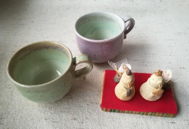 三池焼マグカップ&干支雛