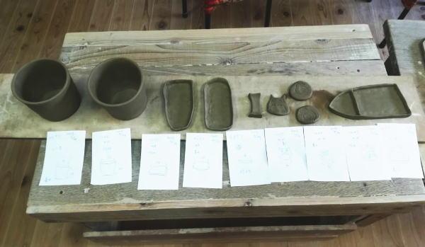 陶芸体験手びねり作品