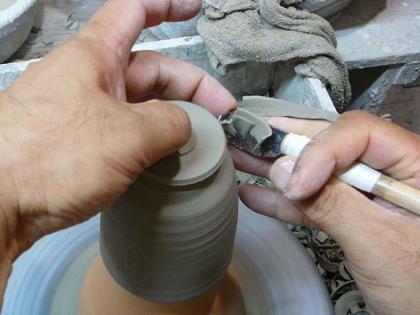 陶芸体験ロクロ削り
