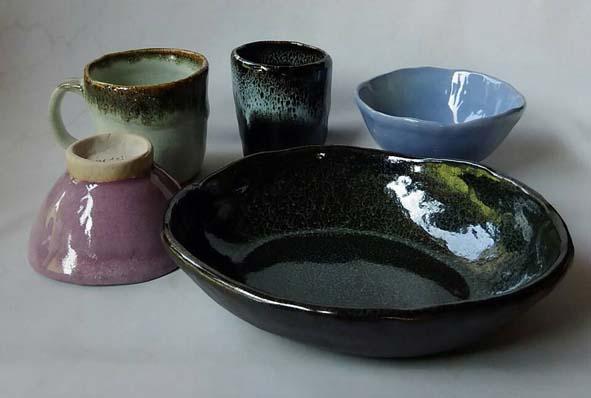 陶芸体験で作った板作り作品