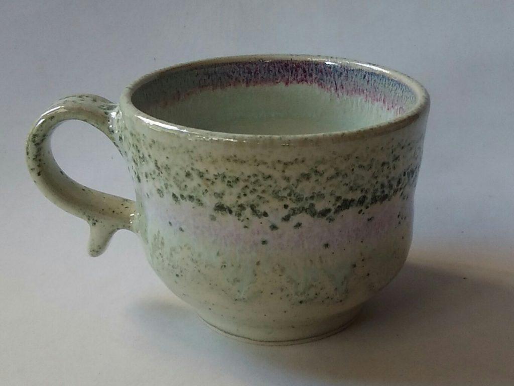 緑釉マグカップです。