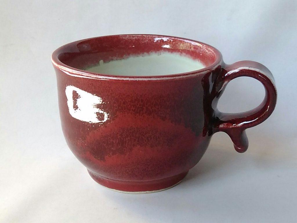 辰砂線文マグカップ