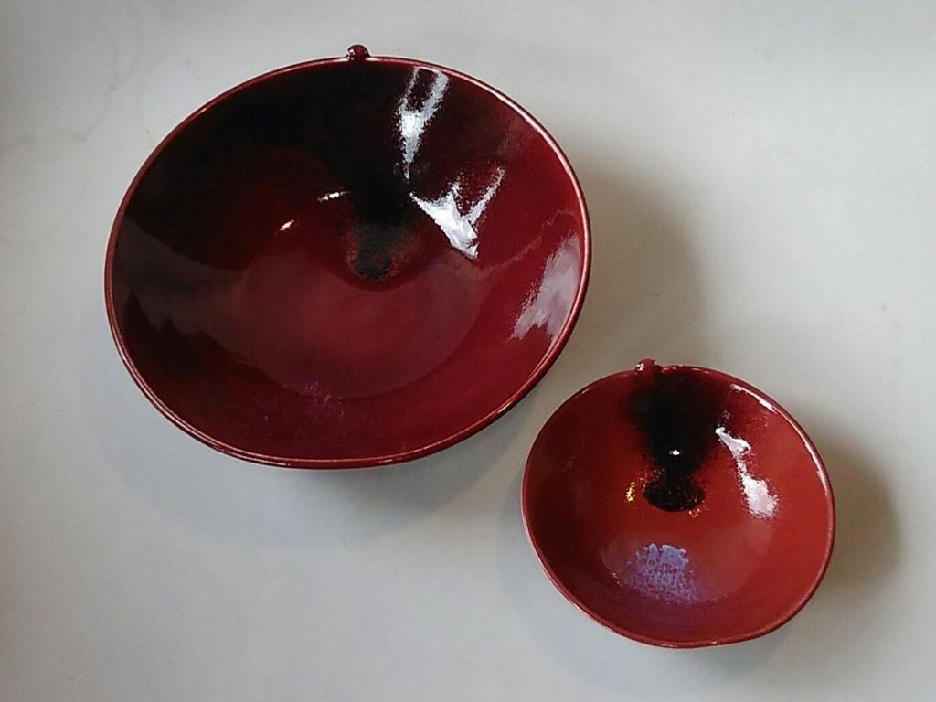 辰砂釉りんご型鉢
