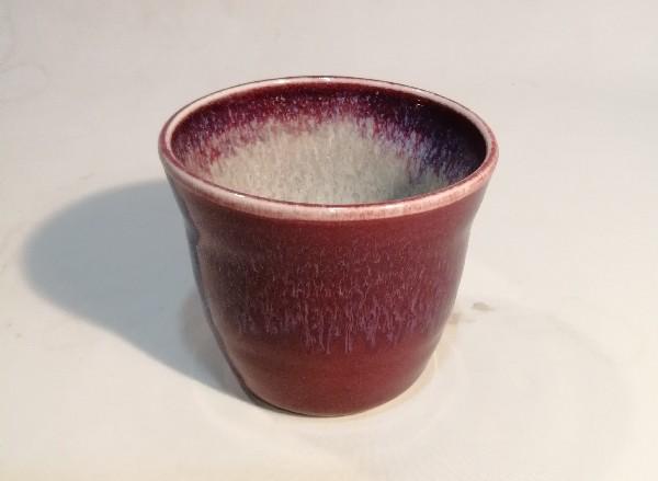 辰砂釉ソバチョコです。