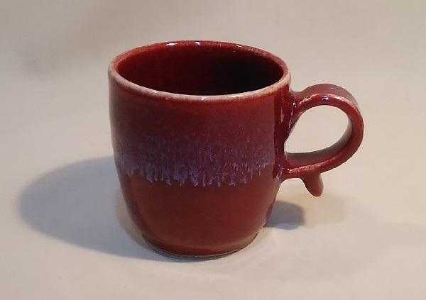 辰砂釉マグカップです。