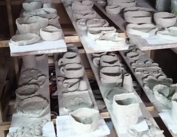 幼稚園での陶芸教室作品です。