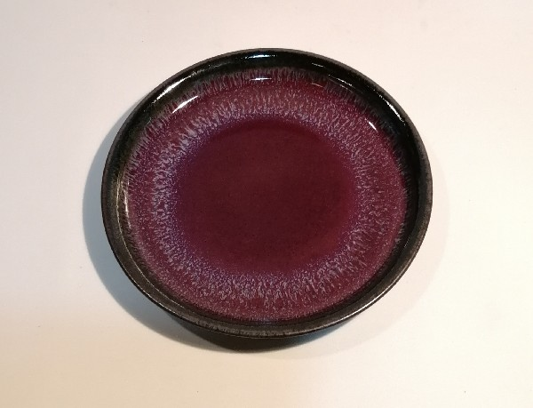 辰砂釉皿です。