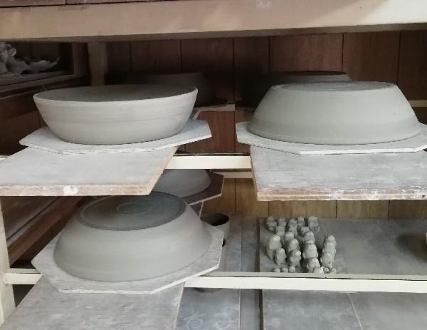 八寸鉢成形終わりました。