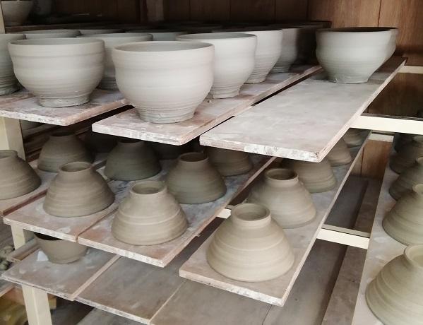汁椀と飯碗制作中です。