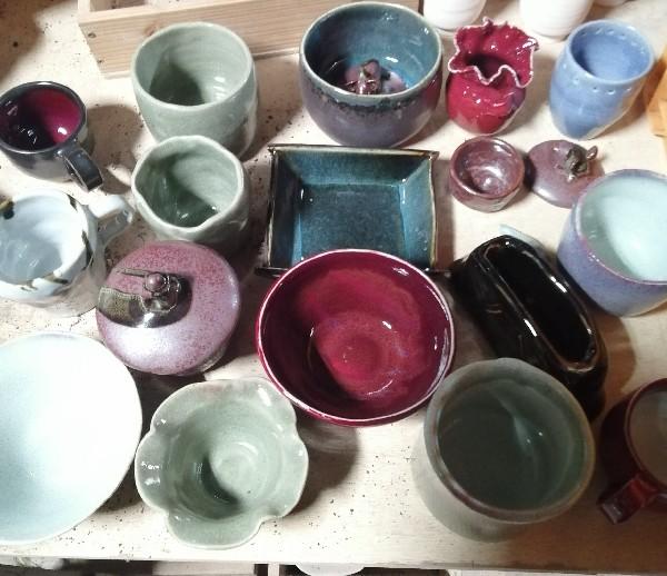 陶芸サークル作品です