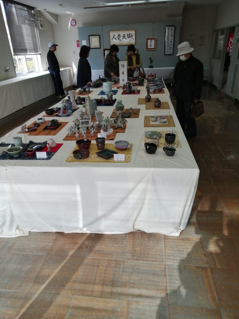 陶芸サークル作品展です