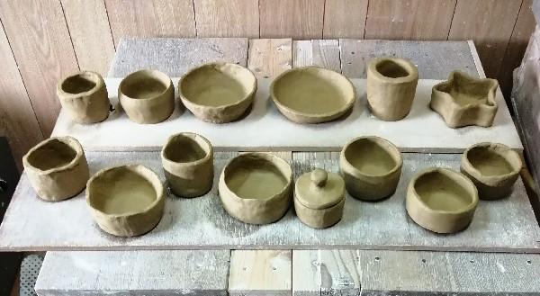 こども陶芸作品です。