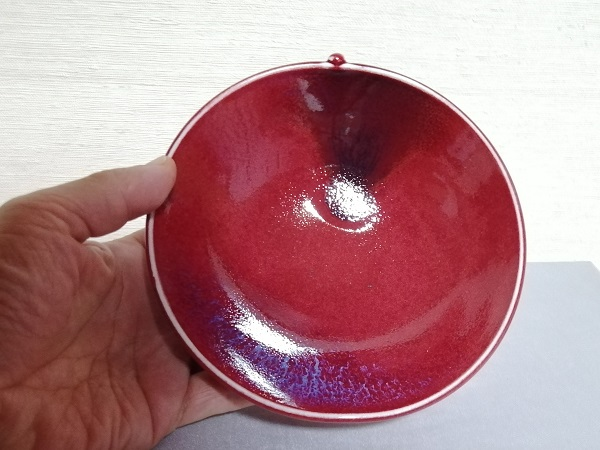 リンゴ形鉢です