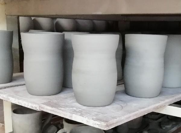焼酎カップ成形終わり