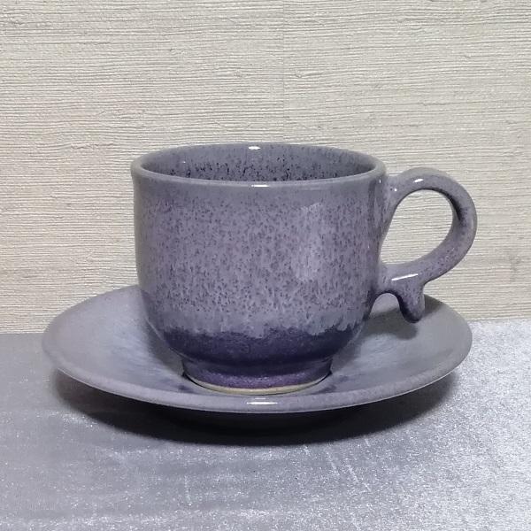 均窯釉コーヒーカップ&ソーサー