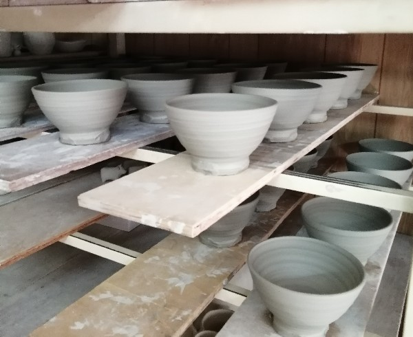 ご飯茶碗水挽き