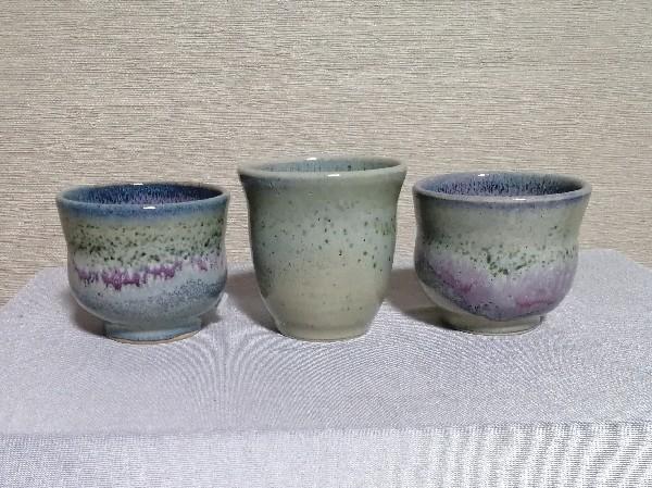 銅緑釉カップ