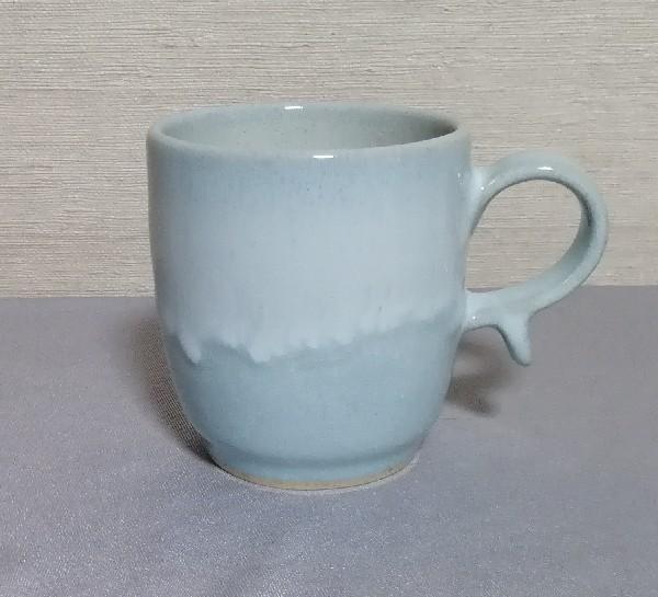 月白釉マグカップ