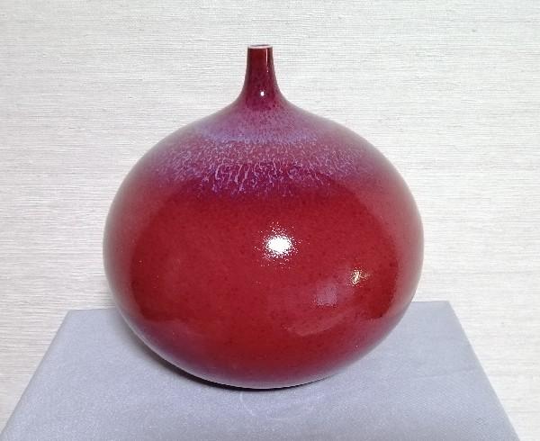 辰砂流し釉壷